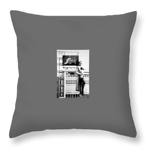Fitness Throw Pillow featuring the photograph Fitness In Lingerie by Ace Micheals