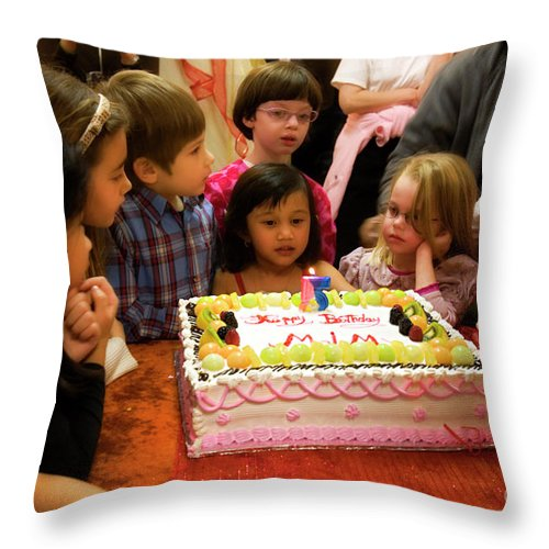 Birthday Throw Pillow featuring the photograph Five by Madeline Ellis