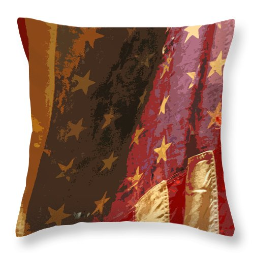 Flag Throw Pillow featuring the photograph Flag 16 by Gary Everson
