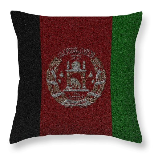 Afghanistan Throw Pillow featuring the digital art Flag Of Afghanistan by Jeff Iverson