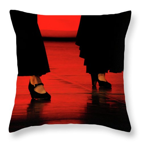 Red Throw Pillow featuring the photograph Flamenco 2 by Pedro Cardona Llambias