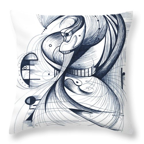 Dancer Throw Pillow featuring the digital art Flamenco Dancer by Nicholas Burningham
