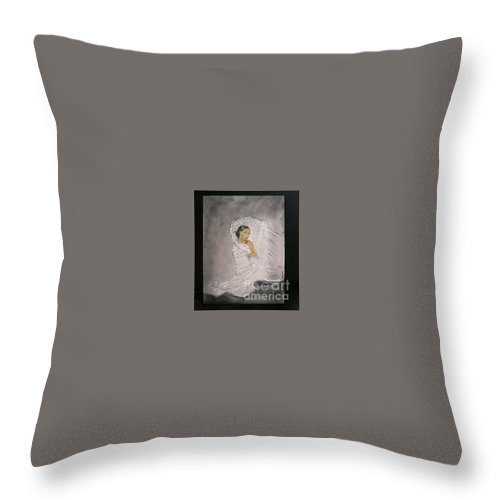 Spain Throw Pillow featuring the painting Flamenco by Lizzy Forrester