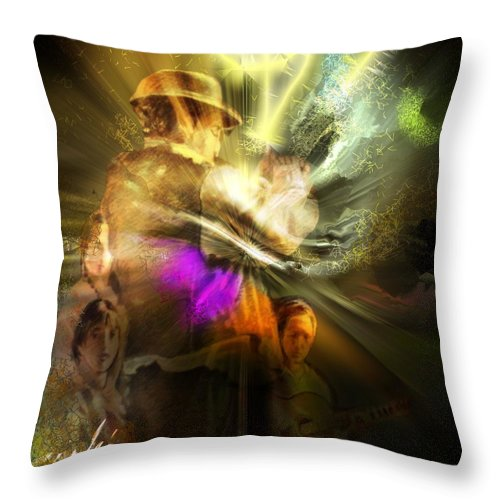 Spain Throw Pillow featuring the painting Flamenco by Miki De Goodaboom