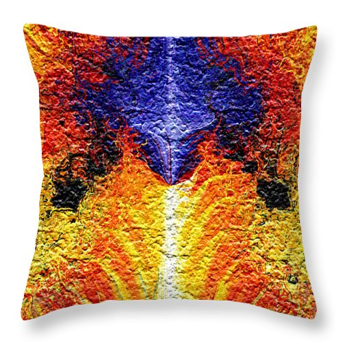 Fractal Throw Pillow featuring the digital art Flames Of Wrath by Charmaine Zoe