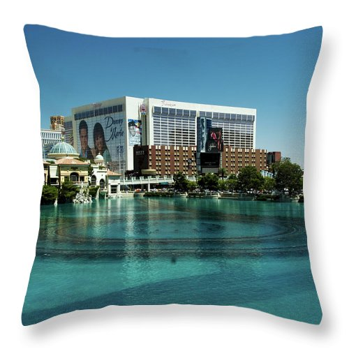 Casino Throw Pillow featuring the photograph Flamingo Casino/hotel by Keith Birmingham