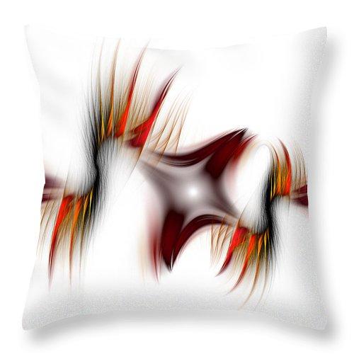 Abstract Throw Pillow featuring the digital art Flamme Flamme by Georgiana Romanovna