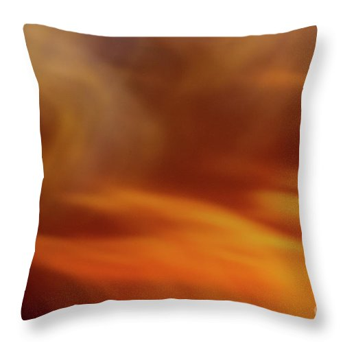 Abstract Throw Pillow featuring the photograph Flammendes Inferno by Dorothy Hilde