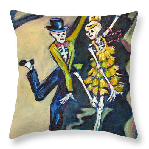 Dance Throw Pillow featuring the painting Flappers by Sharon Sieben