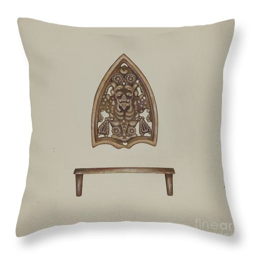Throw Pillow featuring the drawing Flat Iron Holder by Vincent Mcpharlin