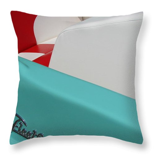 Boat Throw Pillow featuring the photograph Fleetform Powerboat Ll by Michelle Calkins