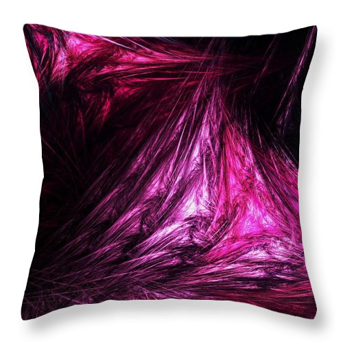 Abstract Digital Painting Throw Pillow featuring the digital art Flesh by David Lane