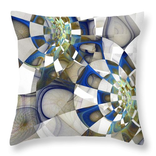 Digital Art Throw Pillow featuring the digital art Flight by Amanda Moore