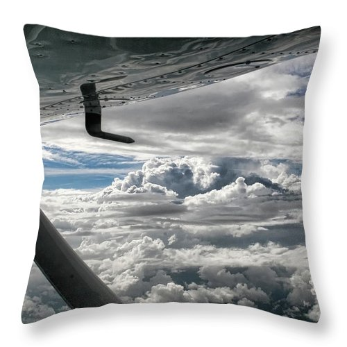 Cessna Throw Pillow featuring the photograph Flight Of Dreams by Patricia Montgomery