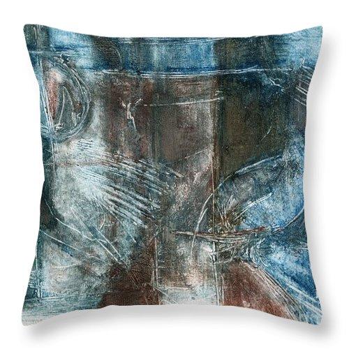 Flight Throw Pillow featuring the drawing Flight Passage by Kerryn Madsen- Pietsch