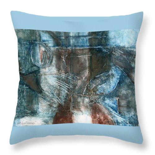 Flight Throw Pillow featuring the relief Flight Passage by Kerryn Madsen- Pietsch