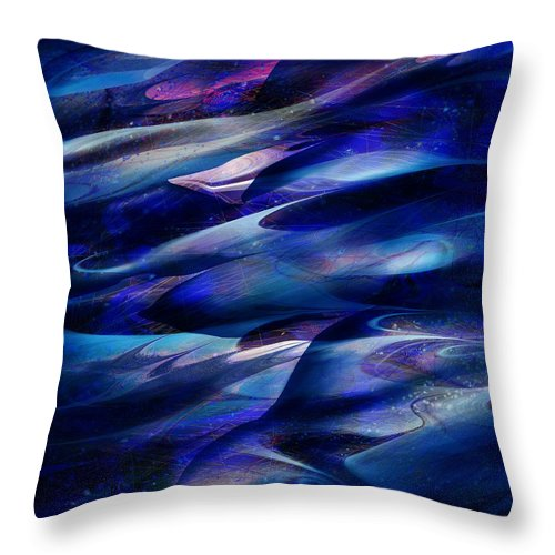 Abstract Throw Pillow featuring the digital art Flight by William Russell Nowicki