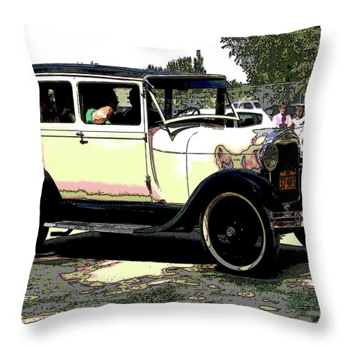 Al Bourassa Throw Pillow featuring the photograph Flivver by Al Bourassa