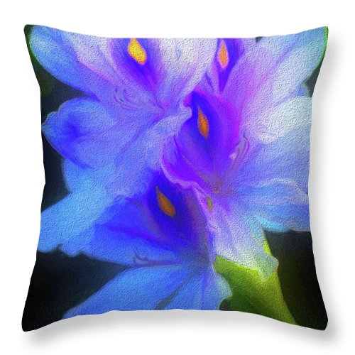 Hyacinth Throw Pillow featuring the photograph Floating Amazement by Marvin Spates