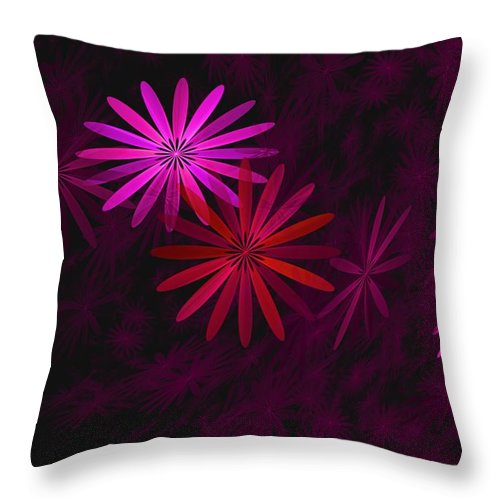 Fantasy Throw Pillow featuring the digital art Floating Floral - 006 by David Lane