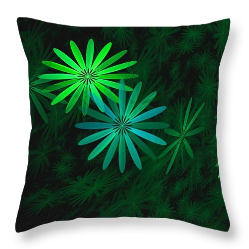 Digital Photography Throw Pillow featuring the digital art Floating Floral-007 by David Lane