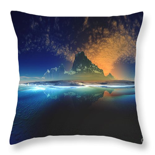 Floating Island Throw Pillow featuring the digital art Floating Island by Heinz G Mielke
