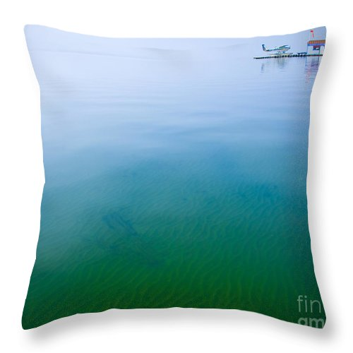 Lake Throw Pillow featuring the photograph Floating On Dreams by Idaho Scenic Images Linda Lantzy