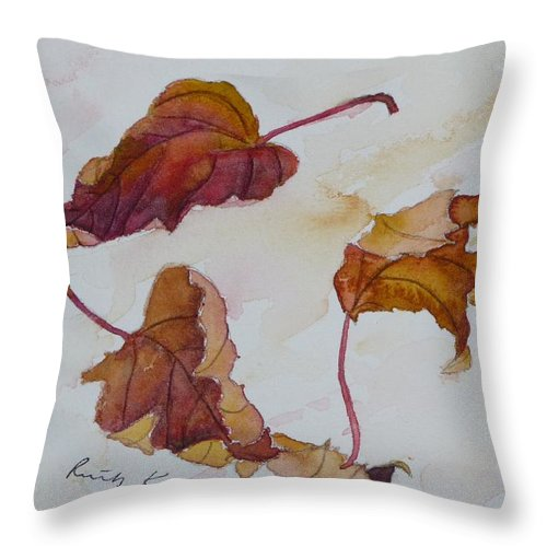 Fall Throw Pillow featuring the painting Floating by Ruth Kamenev