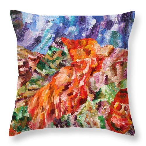 Fusionart Throw Pillow featuring the painting Flock by Ralph White