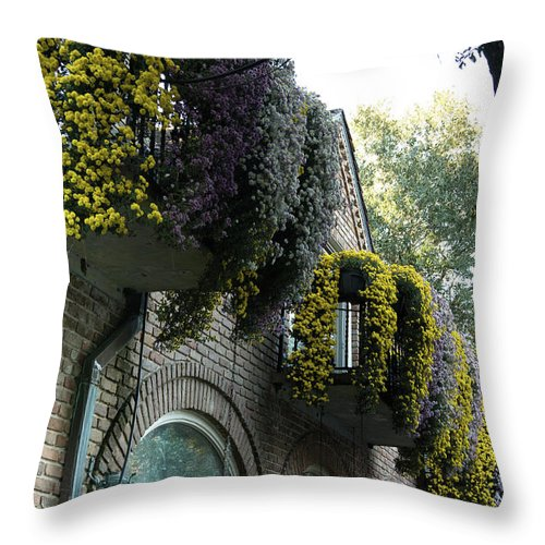 Flowers Throw Pillow featuring the photograph Flora Gardens 173 by Larry Palmer