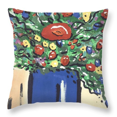 Floral Throw Pillow featuring the painting Floral 280 by Sidra Myers