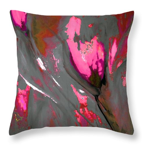 Floral Throw Pillow featuring the digital art Floral Abstract by Lisa Kaiser