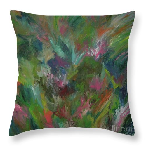 Floral Throw Pillow featuring the painting Floral Abstraction by Cori Solomon