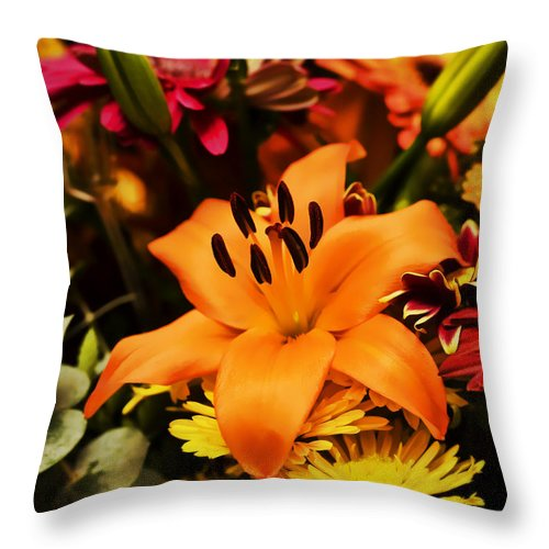 Flower Throw Pillow featuring the photograph Floral Arrangement by Al Mueller