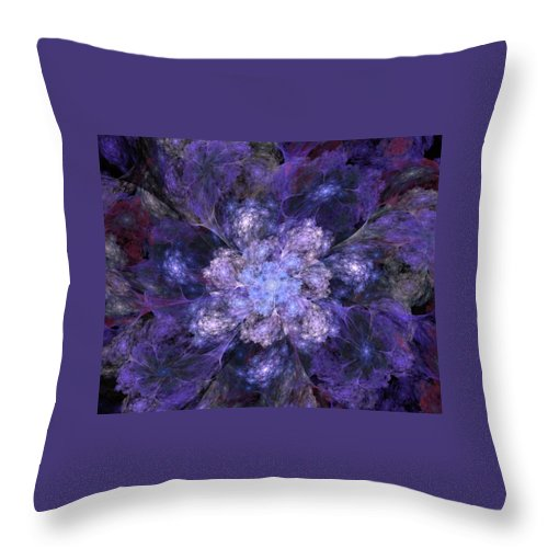 Digital Painting Throw Pillow featuring the digital art Floral Fantasy 1 by David Lane