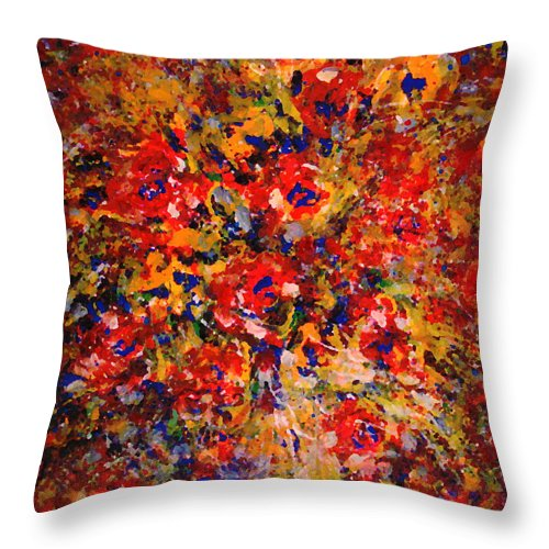 Flowers Throw Pillow featuring the painting Floral Feelings by Natalie Holland