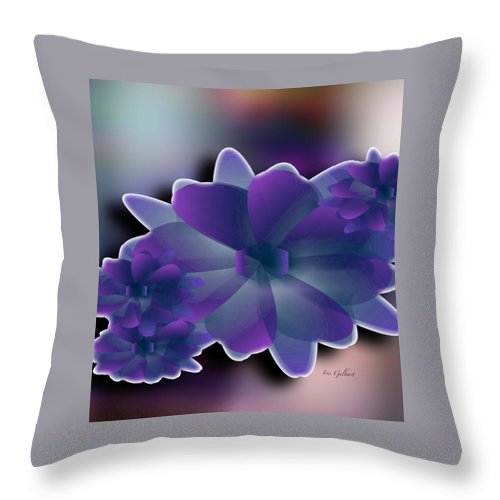 Flowers Throw Pillow featuring the digital art Floral Grace by Iris Gelbart