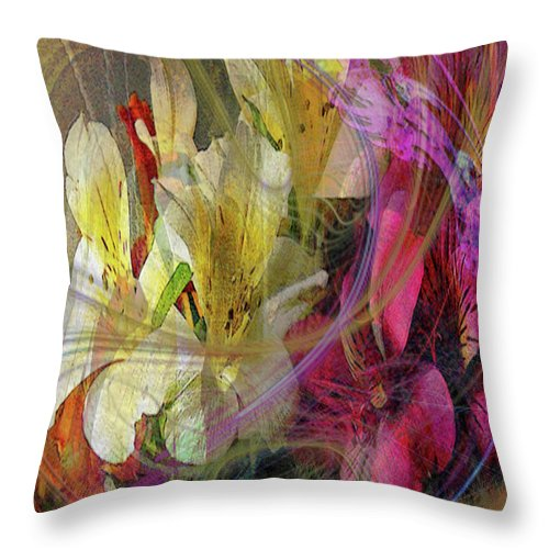 Floral Inspiration Throw Pillow featuring the digital art Floral Inspiration by John Beck