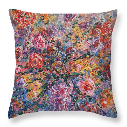 Painting Throw Pillow featuring the painting Floral Melody by Leonard Holland