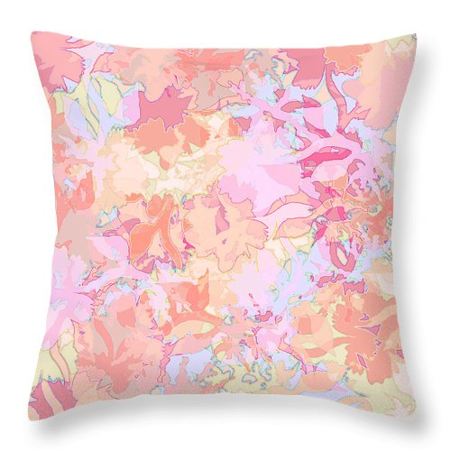 Abstract Throw Pillow featuring the digital art Floral Menagerie by Rachel Christine Nowicki
