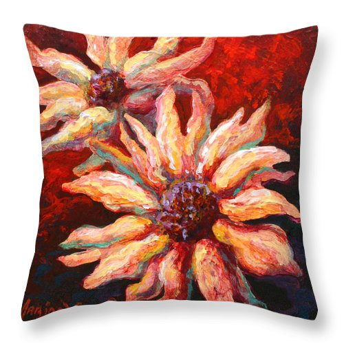 Floral Throw Pillow featuring the painting Floral Mini by Marion Rose