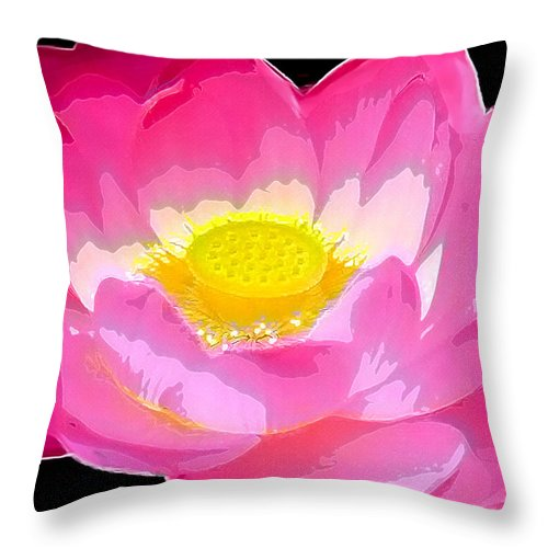Flowers Throw Pillow featuring the drawing Floral by Philip Gresham