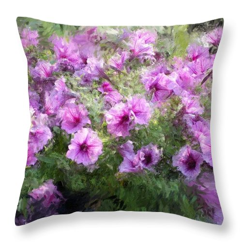 Digital Photography Throw Pillow featuring the photograph Floral Study 053010 by David Lane