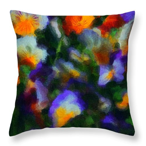 Digital Photography Throw Pillow featuring the photograph Floral Study 053010a by David Lane