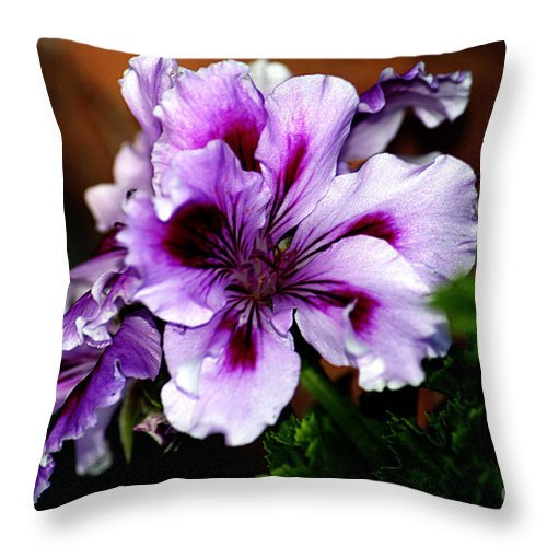 Clay Throw Pillow featuring the photograph Florals by Clayton Bruster