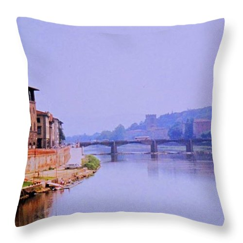 Florence Throw Pillow featuring the photograph Florence by Ian MacDonald