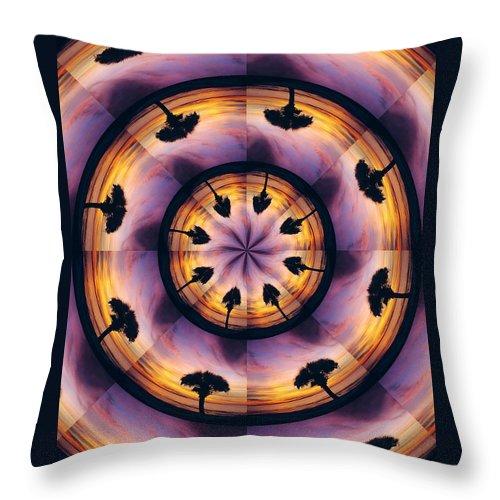 Kaliedoscope Throw Pillow featuring the digital art Florida Fun by Peg Urban