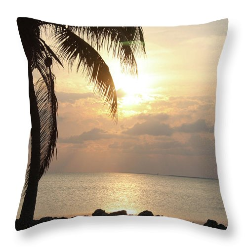 Throw Pillow featuring the photograph Florida Sunset by Darren Edwards