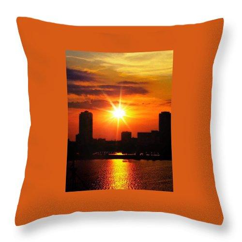 Throw Pillow featuring the photograph Florida Sunset by Tatiana Gorbett