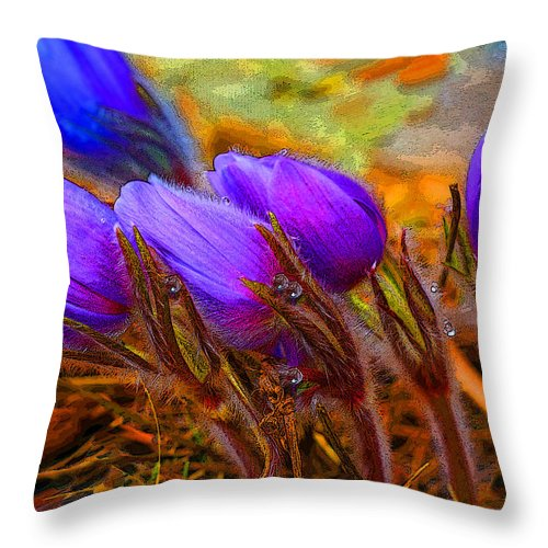 Flowers Throw Pillow featuring the photograph Flourescent Flowers by Heather Coen